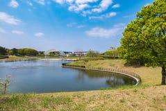 Den Hitachi sjösidan parkerar Royaltyfri Bild
