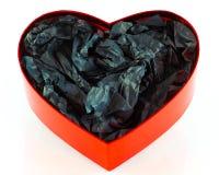 Den hjärta formade gåvan boxas Fotografering för Bildbyråer