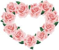 den hjärta isolerade pinken steg stock illustrationer