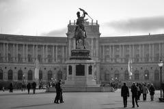 Den Hofburg slotten, Wien Arkivfoto