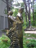 Den Hoffman monumentet i Svetlogorsk royaltyfria bilder