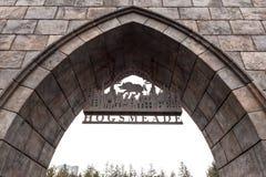 Den Hogsmeade byn undertecknar in Harry Potter dragningszon på den universella studion Japan arkivfoton