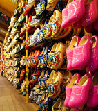 den holländska berömda försäljningen shoes trä Royaltyfria Foton