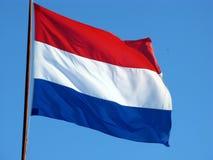 Den holländska flaggan Royaltyfri Bild