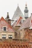 Den holländska historiska townen Zutphen i vinter arkivbilder