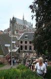 Den holländska staden av Leiden Royaltyfria Foton