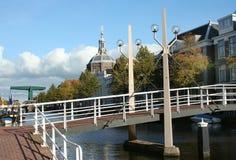 Den holländska staden av Leiden Royaltyfria Bilder