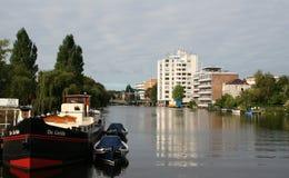 Den holländska staden av Leiden Royaltyfri Foto