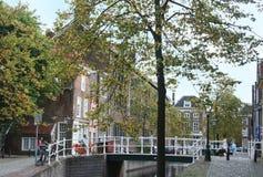 Den holländska staden av Leiden Royaltyfri Fotografi