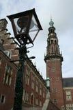 Den holländska staden av Leiden Arkivfoton
