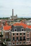 Den holländska staden av Leiden Arkivbild