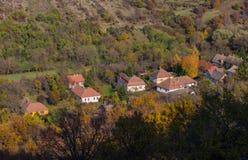 Den Holloko slotten i Ungern och hösten parkerar omkring Royaltyfria Bilder