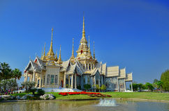 "Den Holly Temple ""WatLuang Phor Tor†en den mest berömda templet Arkivbild"