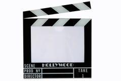 den hollywood för brädeapplådclapperen filmen kritiserar arkivfoton