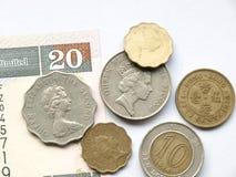 Den Hong Kong dollaren myntar Arkivfoto