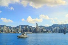 Den Hong Kong victoria hamnen Royaltyfria Bilder