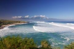 Den Hookipa stranden parkerar Ho'okipa Arkivbild