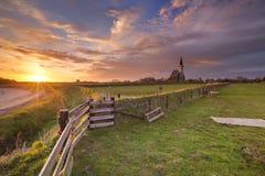 Den Hoorn sull'isola di Texel nei Paesi Bassi fotografie stock