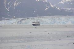 Den Hubbard glaciären, Alsaka, juni, USA Royaltyfri Foto