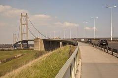 Den Humber bron går vägen. Fotografering för Bildbyråer