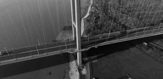 Den Humber bron, Kingston på skrov royaltyfria bilder