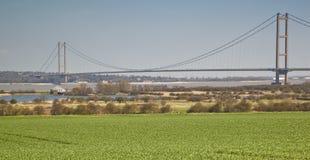 Den Humber bron och den Humber breda flodmynningen. Royaltyfri Bild
