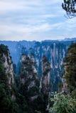 Den Hunan Zhangjiajie medborgaren Forest Park, den magiska annalkande `en för gammal husfält` når en höjdpunkt Royaltyfria Foton