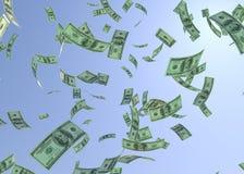 Den Hundered dollaren fallande 3d framför royaltyfri illustrationer