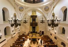 Den Hurva synagogan i Jerusalem Royaltyfri Foto