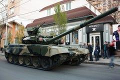 Den huvudsakliga är Ten-90, repetitionen av Victory Parade Arkivfoton