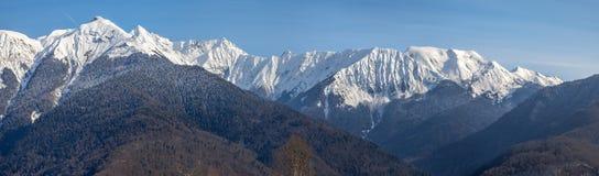 Den huvudsakliga Caucasian kanten Krasnaya Polyana, Sochi, Ryssland Royaltyfri Fotografi