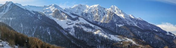 Den huvudsakliga Caucasian kanten Krasnaya Polyana, Sochi, Ryssland Royaltyfri Bild