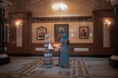 Den huvudsakliga domkyrkan av den georgiska ortodoxa kyrkan i Georgia arkivbild