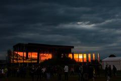 Den huvudsakliga etappen av den elektriska slottfestivalen, 5th upplaga Royaltyfri Foto
