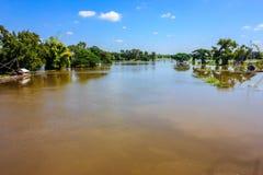 Den huvudsakliga floden Arkivfoton