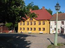 Den huvudsakliga fyrkanten i Gamla Linkoping. Linkoping. Sverige Royaltyfria Foton