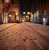 Den huvudsakliga gatan i centrum kallade CORSO PALLADIO av Vicenza City in Arkivbild