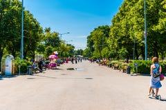 Den huvudsakliga gränden av Moskva Gorky parkerar Royaltyfri Bild