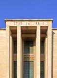 Den huvudsakliga ingången av universitetstaden studerar La Sapienza, Roma, Ital Arkivfoto