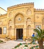 Den huvudsakliga ingången till det Coptic museet i Kairo, Egypten arkivbild