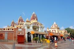 Den huvudsakliga ingången till Laxmi Narayan Temple Royaltyfria Foton