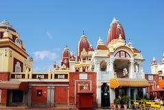Den huvudsakliga ingången till Laxmi Narayan Temple Arkivfoto