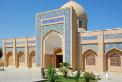 Den huvudsakliga ingången till mausoleet av Bahauddin Naqshbandi i Bukhara Royaltyfri Foto