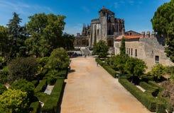 Den huvudsakliga kyrkan av kloster av Tomar, Portugal Arkivfoto