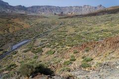 Den huvudsakliga platån av den Teide nationen parkerar Royaltyfri Fotografi
