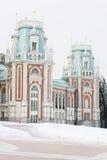 Den huvudsakliga slotten av det 18th århundradet i Tsaritsyno parkerar Royaltyfri Fotografi