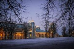 Den huvudsakliga slotten i Tsaritsyno Royaltyfri Bild