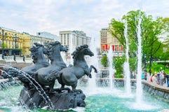 Den huvudsakliga springbrunnen av staden Arkivfoto