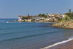 Den huvudsakliga stranden av sidan Arkivbild