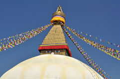 Den huvudsakliga stupaen i Nepal Royaltyfri Bild